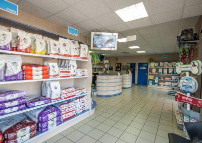 Salle d'attente à la Clinique Vétérinaire d'Aunis de St-Florent-des-Bois