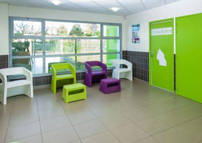 Salle d'attente Chat à la Clinique Vétérinaire d'Aunis de Luçon
